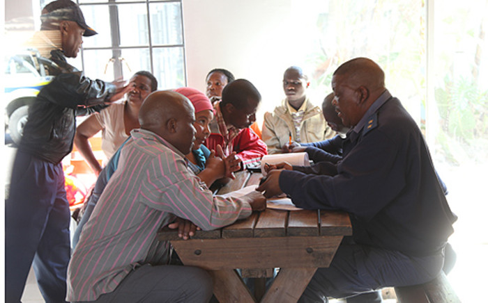 Julius Malema lays charges against the police, after the deadly Marikana mine shooting. Picture: Taurai Maduna/EWN.