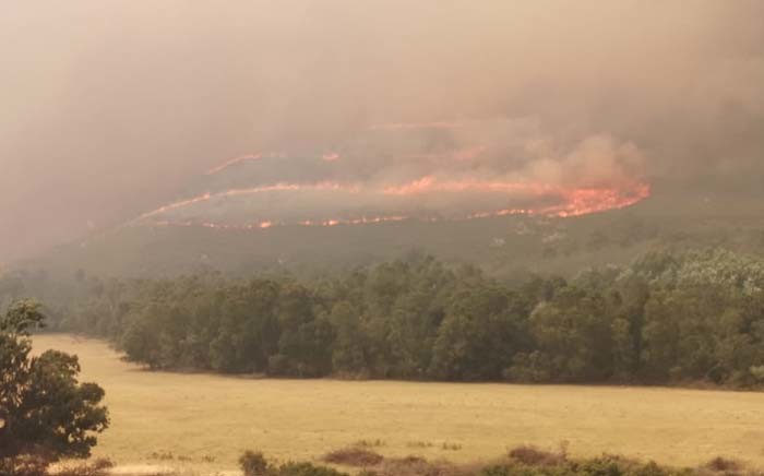 FILE: Greyton wildfire. Picture: Greater Overberg FPA/Facebook.