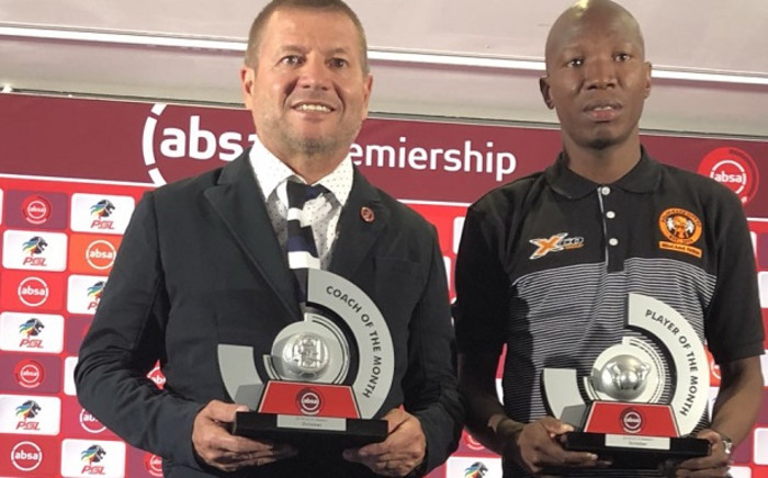 Coach Josef Vukusic and club captain Jabulani Maluleke have bagged the Coach and Player of the Month awards respectively. Picture: @OfficialPSL/Twitter
