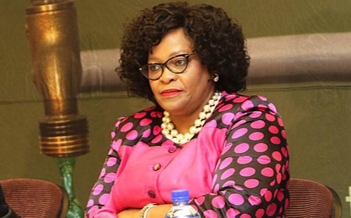 Minister of Water and Sanitation Nomvula Mokonyane. Picture: @DWS_RSA/Twitter