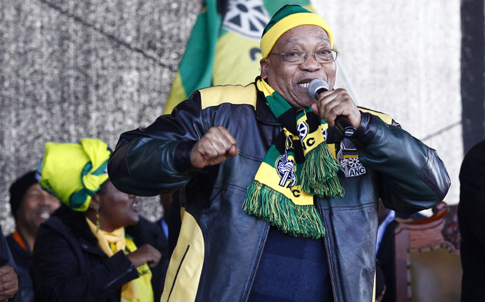 FILE: Former President Jacob Zuma dances at the ANC's party rally at the Dan Qeqe stadium in Port Elizabeth on 23 July 2016 ahead of the municipal elections. Picture: AFP.