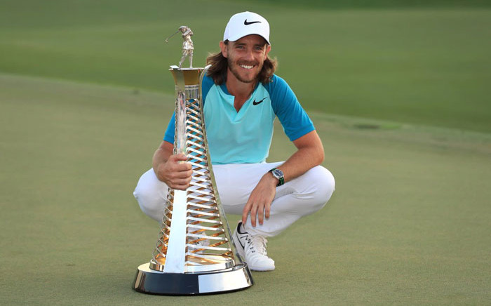 FILE: Tommy Fleetwood with the Race to Dubai trophy. Picture: @EuropeanTour/Twitter