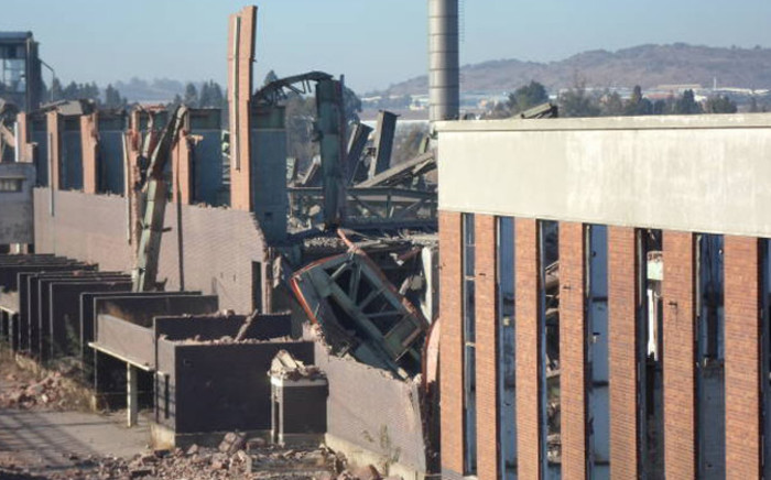 The old power plant in Soweto collapsed on 25 June 2014. Picture: IWN.