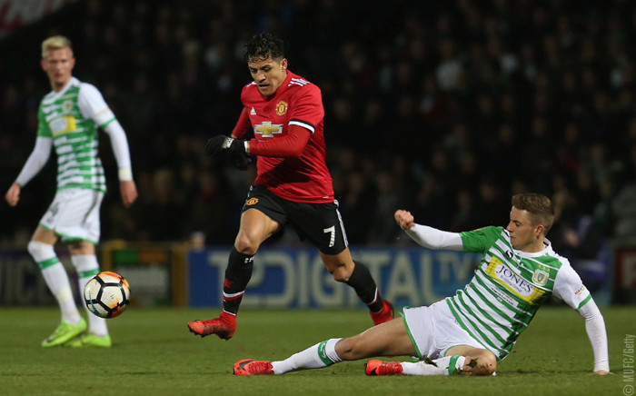 Manchester United's Alexis Sanchez in action against Yeovil Town. Picture: @ManUtd/Twitter