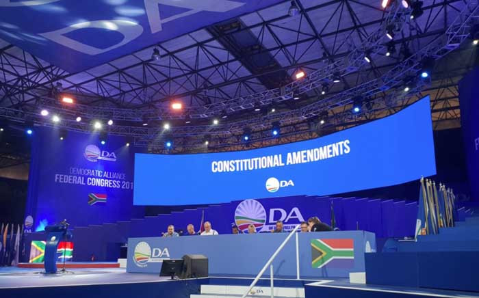 The Democratic Alliance is expected to elect new leaders on 8 April at its elective congress in Tshwane, Pretoria. Picture: @Our_DA/Twitter.