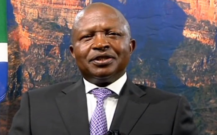 A screengrab of Deputy President David Mabuza delivering his Christmas message on 24 December 2018.