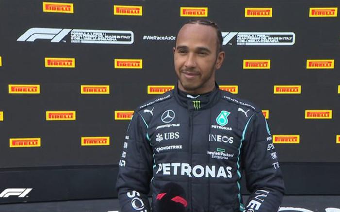 Lewis Hamilton at the Emilia Romagna Grand Prix. Picture: Twitter @F1.