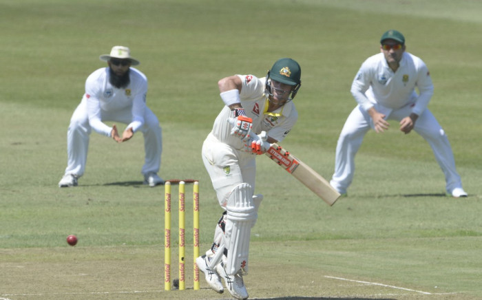 Australia's David Warner gets quick runs during the first Test against the Proteas in Durban on 1 March 2018. Picture: Twitter/@OfficialCSA