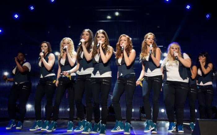 FILE: A screenshot from the new film, Pitch Perfect 2 with original stars Anna Kendrick and Rebel Wilson.