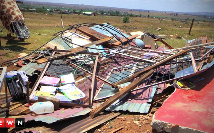 FILE: Thousands of Ekurhuleni residents have been left shaken after their homes were damaged in thunderstorms which brought hail stones and severe winds earlier this week. Picture: Kgothatso Mogale/EWN.
