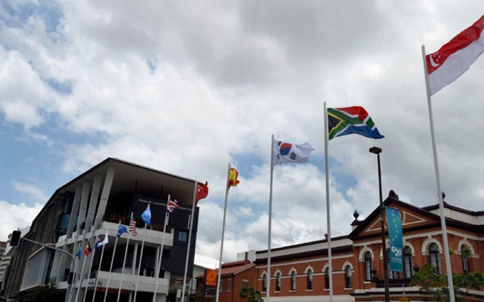 Flags flying high at the G20 Summit in Brisbane, Australia. Picture: GCIS.
