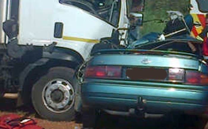 Four people were killed following a head on collision between a light motor vehicle and a truck in Klerksdorp on 22 December 2012. Picture: Netcare 911