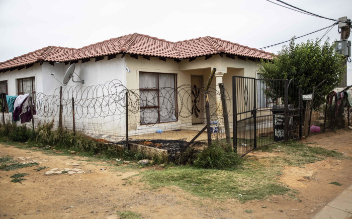The house where seven people were killed in Vlakfontein. Picture: Abigail Javier/EWN