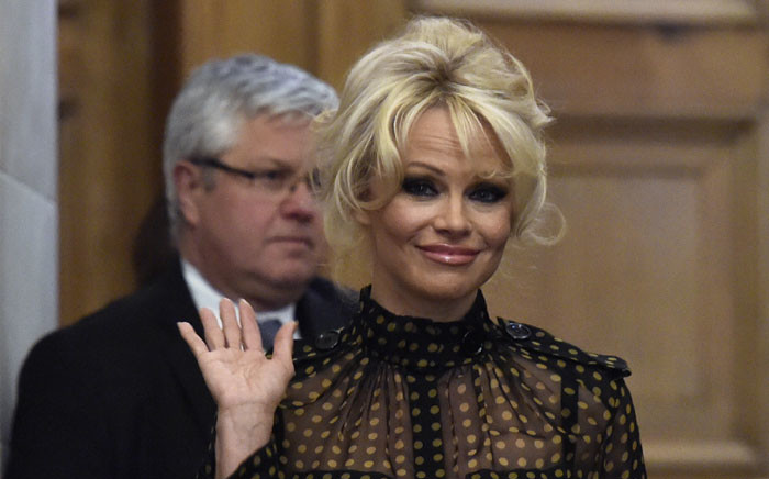 US actress Pamela Anderson. Picture: AFP