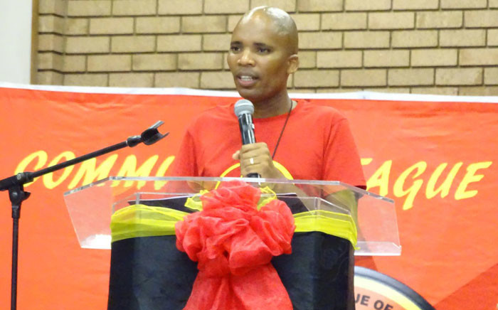 Young Communist League (YCL) of South Africa National Secretary Mluleki Dlelanga. Picture: @SACP1921.