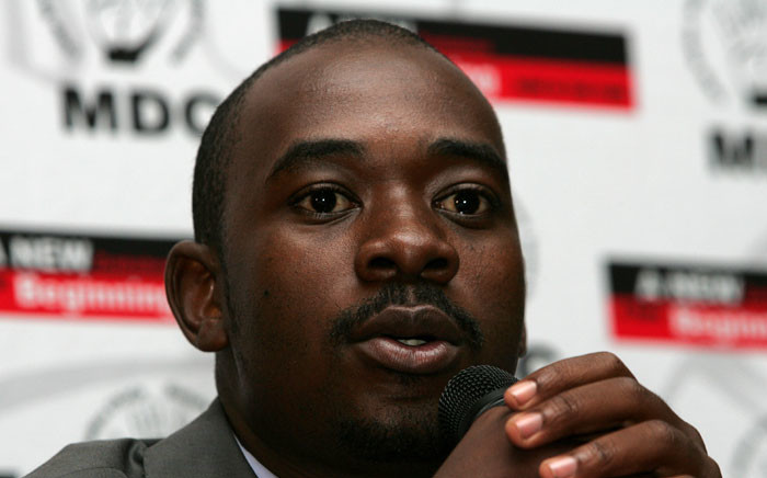 Zimbabwe's Movement for Democratic Change (MDC) spokesman Nelson Chamisa addresses the media in Harare on April 2, 2008. Picture: AFP