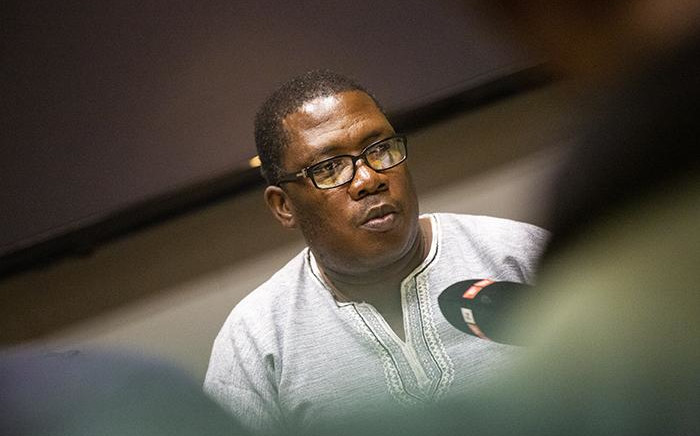Panyaza Lesufi addressing the media about the Please Call Me Movement. Picture: Kayleen Morgan/EWN