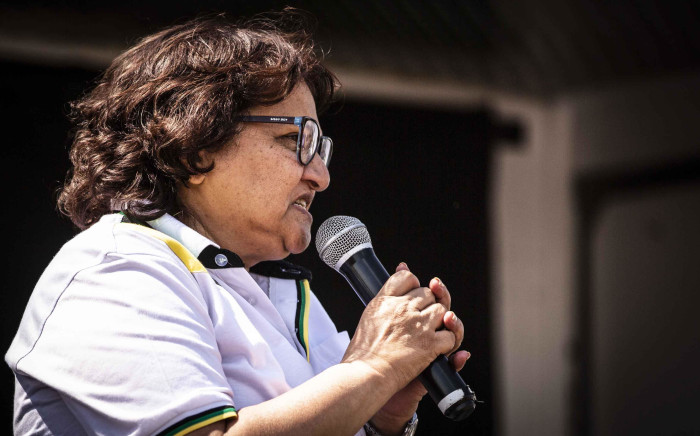 FILE: ANC deputy secretary-general Jessie Duarte addresses the community of Katlehong during an ANC campaign. Picture: Abigail Javier/Eyewitness News.