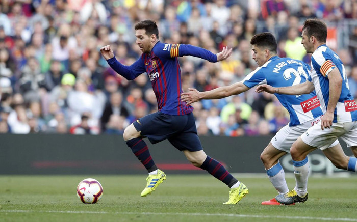 Barcelona's Lionel Messi in action during his team's  La Liga match against Espanyol. Picture: @FCBarcelona/Twitter.