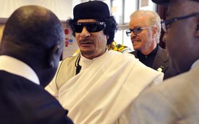 Slain Libyan leader Muammar Gaddafi. Picture: AFP