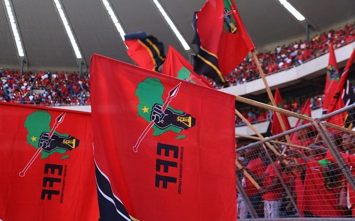 EFF Flags. Picture: Kayleen Morgan/EWN