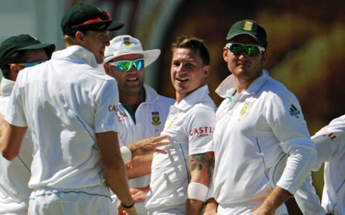 Proteas teammates. Picture: AFP