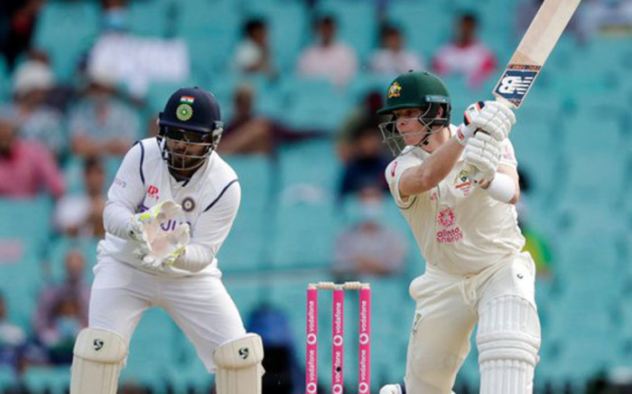 Australia padded up again after taking eight wickets on day three to dismiss India for 244 in reply to the hosts' 338. Picture: Twitter.