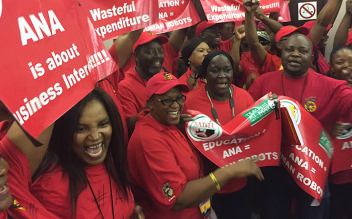 FILE: A damning report reveals that Sadtu is entirely implicated in the jobs for cash scandal. Picture: Vumani Mkhize/EWN