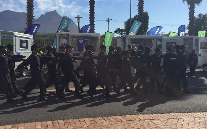 117 unarmed officers have been trained to assist police with administrative work using the new kiosks. Picture: Masa Kekana/EWN.