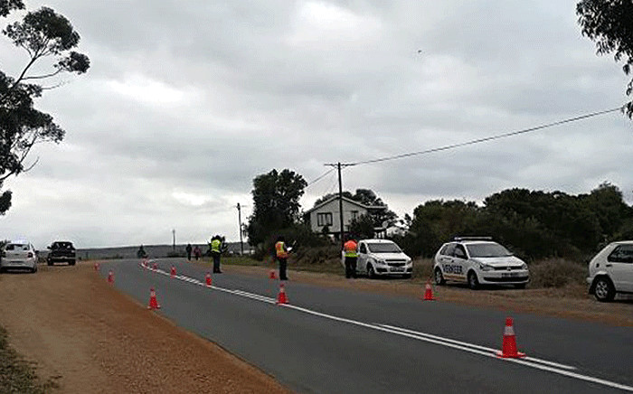 Traffic officials seen along the R43 in Stanford. Picture: @WCGovSafelyHome/Twitter