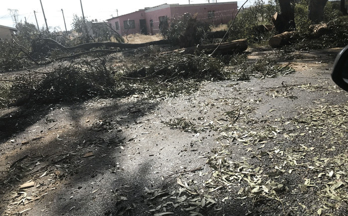 Remnants of the protest action are visible in Witsand, Atlantis. Picture: Monique Mortlock/EWN