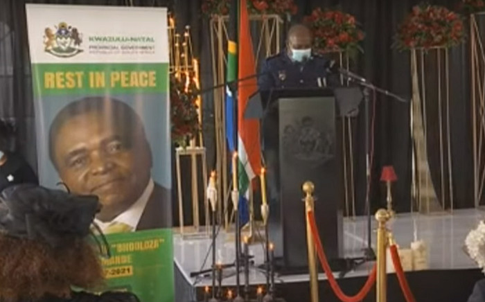 The funeral of Welcome Bhodloza Nzimande on Wednesday, 20 January 2021. Picture: SABC YouTube.
