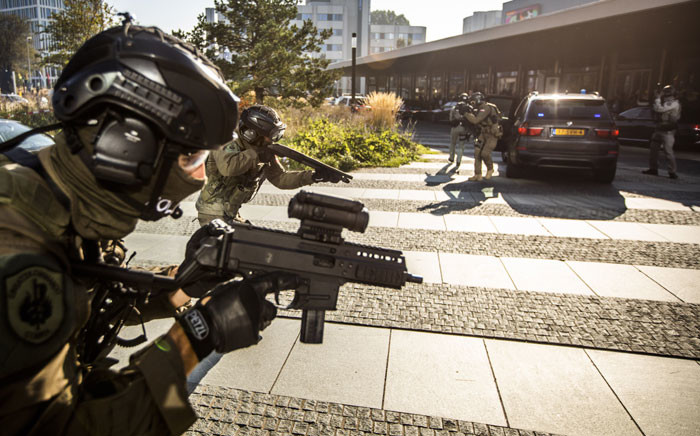 FILE: Special intervention units from different countries give a demonstration in The Hague, The Netherlands, on 10 October 2018 after Europol and ATLAS, the European Union Law Enforcement Agency, signed an agreement to establish a permanent ATLAS Support Office at the Europol headquarters in The Hague. Picture: AFP