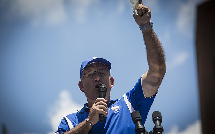 FILE: DA member Athol Trollip delivering a speech during the party's march against unemployment in Johannesburg on 27 January 2016. Picture: EWN.