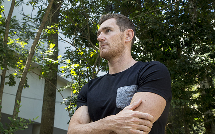 Double Olympic silver-medalist Cameron van der Burgh stands at a local university in Rio de Janeiro in Brazil after an interview with EWN following the 2016 Olympic Games. Picture: Reinart Toerien/EWN.