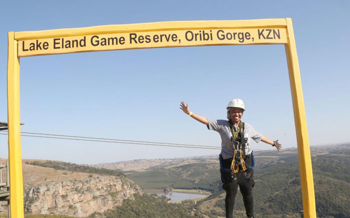 Zip-line experience at Lake Eland in the South Coast, KwaZulu-Natal. Picture: Tourism KZN.