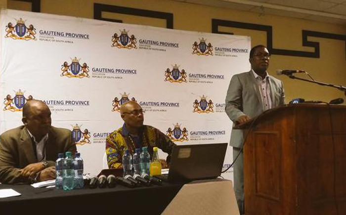 FILE. Gauteng Education MEC Panyaza Lesufi addressing the Education Summit in Pretoria on 26 September 2015. Picture: Gauteng Education @EducationGP.