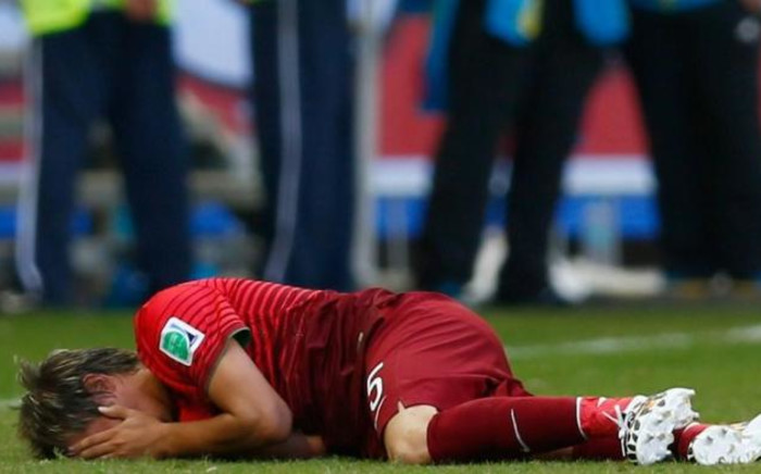 Fabio Coentrao has been ruled out for the rest of the World Cup with a thigh muscle injury. Picture: Fifa.com.