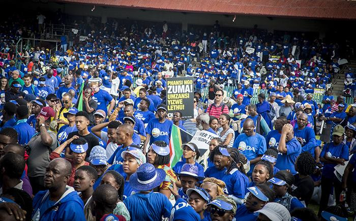 FILE: A placcard is held up by a member of the public at the Freedom Movement rally against the leadership of President Jacob Zuma in Pretoria on 27 April 2017. Picture: Reinart Toerien/EWN