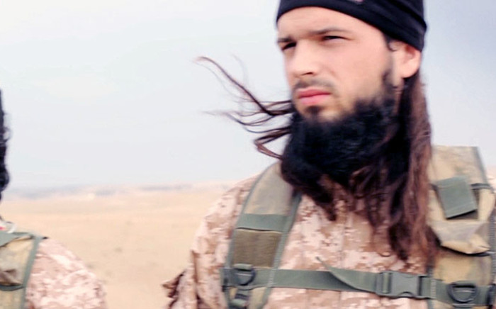 French intelligence say Maxime Hauchard (22) who was seen in an Islamic State beheading video, is a French Muslim convert from the Normandy region. Picture: Screenshot.