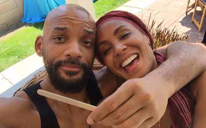 Will Smith & his wife Jada Pinkett Smith. Picture: Will Smith/Facebook.