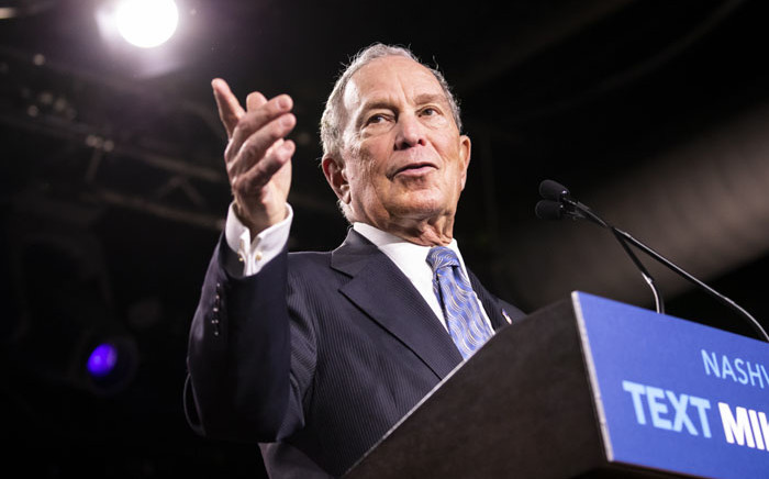 Democratic presidential candidate former New York City Mayor Mike Bloomberg delivers remarks during a campaign rally on February 12, 2020 in Nashville, Tennessee. Bloomberg is holding the rally to mark the beginning of early voting in Tennessee ahead of the Super Tuesday primary on March 3rd. Brett Carlsen/Getty Images/AFP