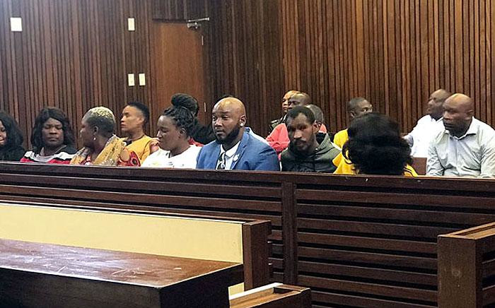 The family of Zinhle Maditla, the Mpumalanga woman found guilty of murdering her four children, at the High Court in Middelburg on 17 September 2019. Picture: Bonga Dlulane/EWN