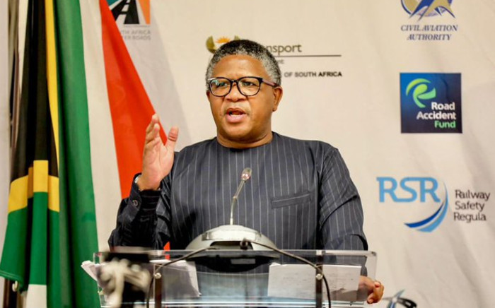 Transport Minister Fikile Mbalula during his department's budget vote on Friday, 21 May 2021. Picture: Twitter/@MbalulaFikile