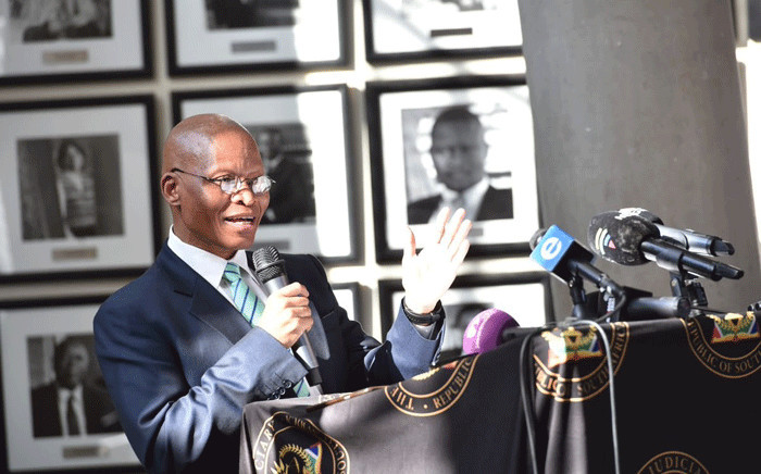 Chief Justice Mogoeng Mogoeng during the IEC handover ceremony of the lists of designated parliamentarians and members of provincial legislatures at the Constitutional Court of South Africa, Johannesburg. Picture:  GCIS.