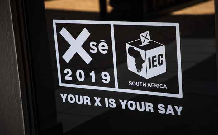 An IEC elections 2019 campaign logo seen at the commission's head offices in Centurion, Tshwane. Picture: Abigail Javier/EWN