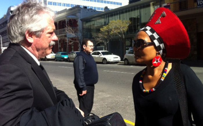 Murder accused Thandi Maqubela (R) and her lawyer (L) in Cape Town. Picture: Catherine Rice/EWN.