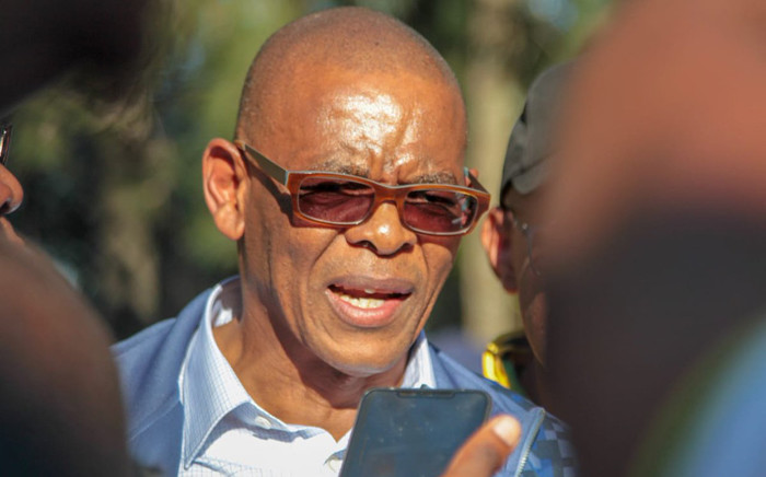 FILE: ANC secretary-general Ace Magashule addressing the media on 13 May 2019 on the sidelines of the special NEC meeting in Pretoria. Picture: @MYANC/Twitter