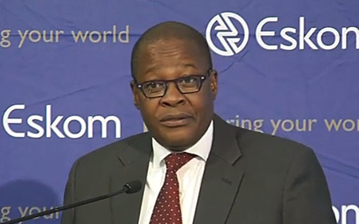 Acting Eskom CEO Brian Molefe briefed the country on the utility's winter plan on 17 June 2015.