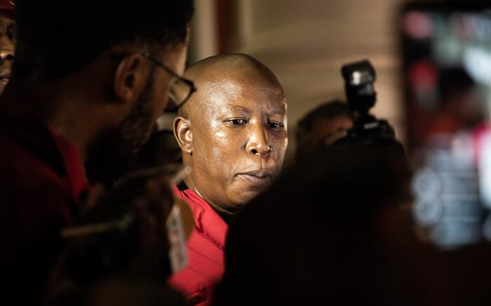 EFF president Julius Malema outside Parliament on 13 February 2020. Picture: Kayleen Morgan/EWN